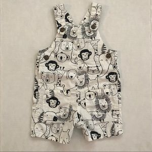 Black and white animal overalls